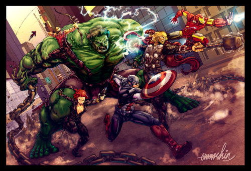 Artwork : The Avengers par Brahma Bone