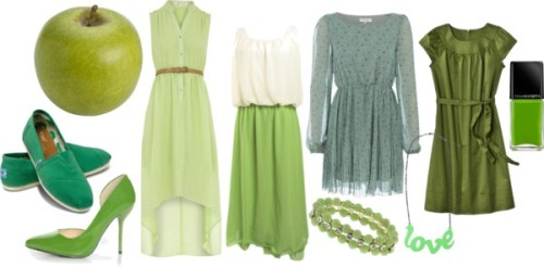 (via Lovely At Your Side: Getting Ready for Autumn: Green Apple Inspired Fashion)