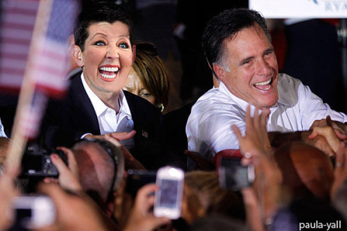 Mitt Romney and Paula Ryan.