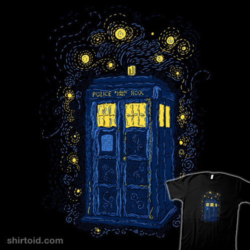 shirtoid:  Space Time Impressionism by FrederickJay is $10 today only (8/30) at RIPT Apparel