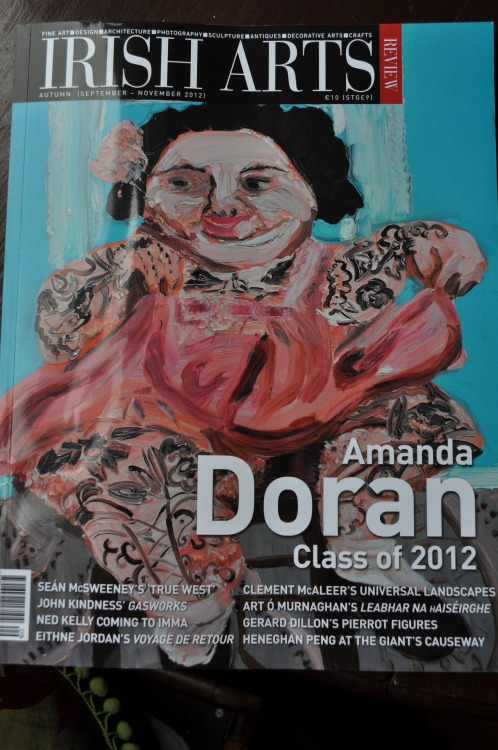 My painting 'Tattooed Lady' on the cover of Irish Arts Review this month!…. Get your copy!!