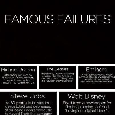 If you've never failed, you've never tried anything new.  ph via msbevent.com