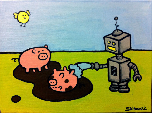 """Fun in the Sun"" acrylic on 9 x 12 canvas. 2012."