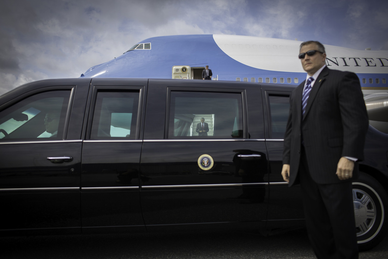 President Obama exits Air Force One upon arriving at the airport in Manchester, N.H.   Photographer Callie Shell has documented President Barack Obama since 2004. Last week, she photographed Obama on the campaign trail in New Hampshire for TIME. See more photos here.