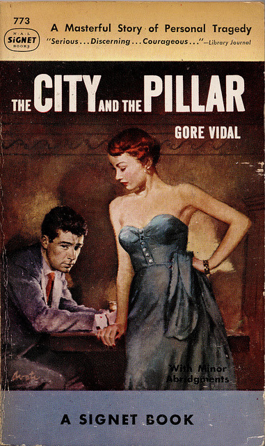 "■ infn ■ → Gore Vidal → The City and the Pillar → cover → (3) ""[…] 1950; The City and the Pillar by Gore Vidal. Cover art by James Avati […]"" A proposito di Gore Vidal, materiali per una bibliografia italiana (1bis)"