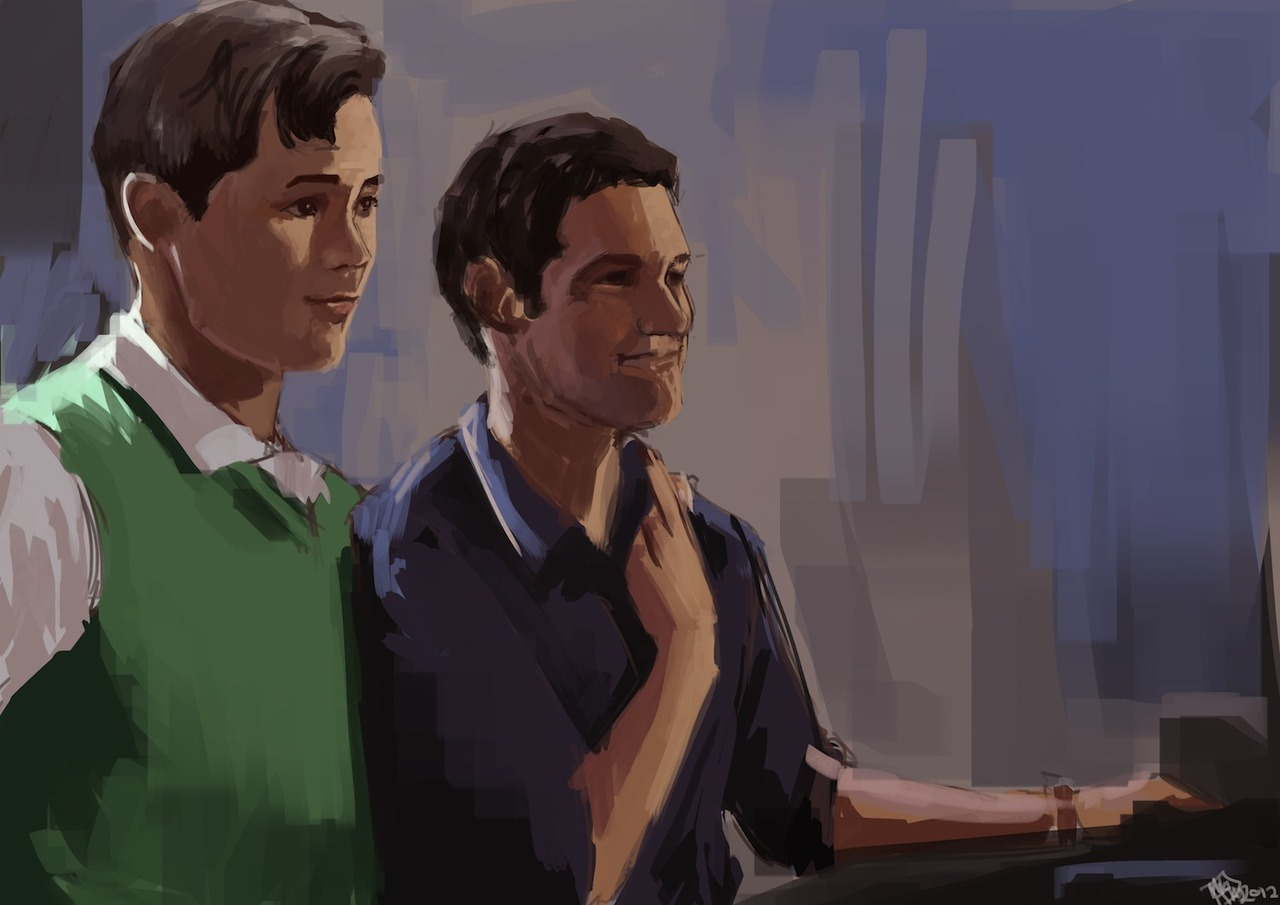 nbcthenewnormal:  Our very first New Normal fan art! We are both touched and honored. PS, you've got skills Miki. miki-tikus:  Finished. The New Normal Speedpaint - 2 hours