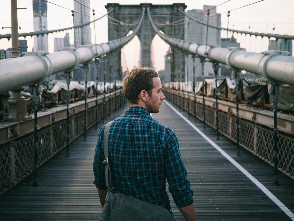 JonPaul Douglass and the Brooklyn Bridge.