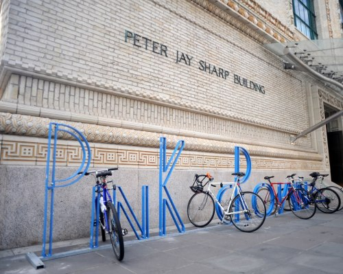 BAM's new bike racks designed by David Byrne.