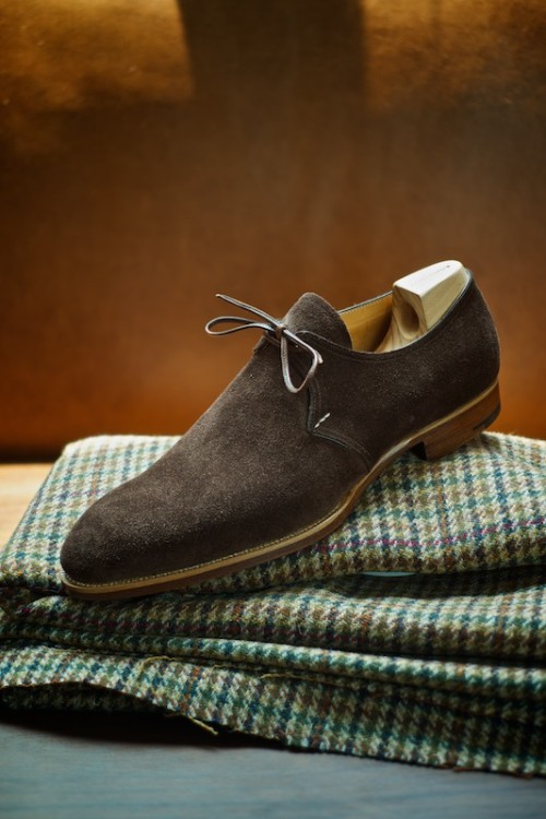ethandesu:  1 Eyelet in Suede Model 506 by Saint Crispin's Made to Measure at The Armoury