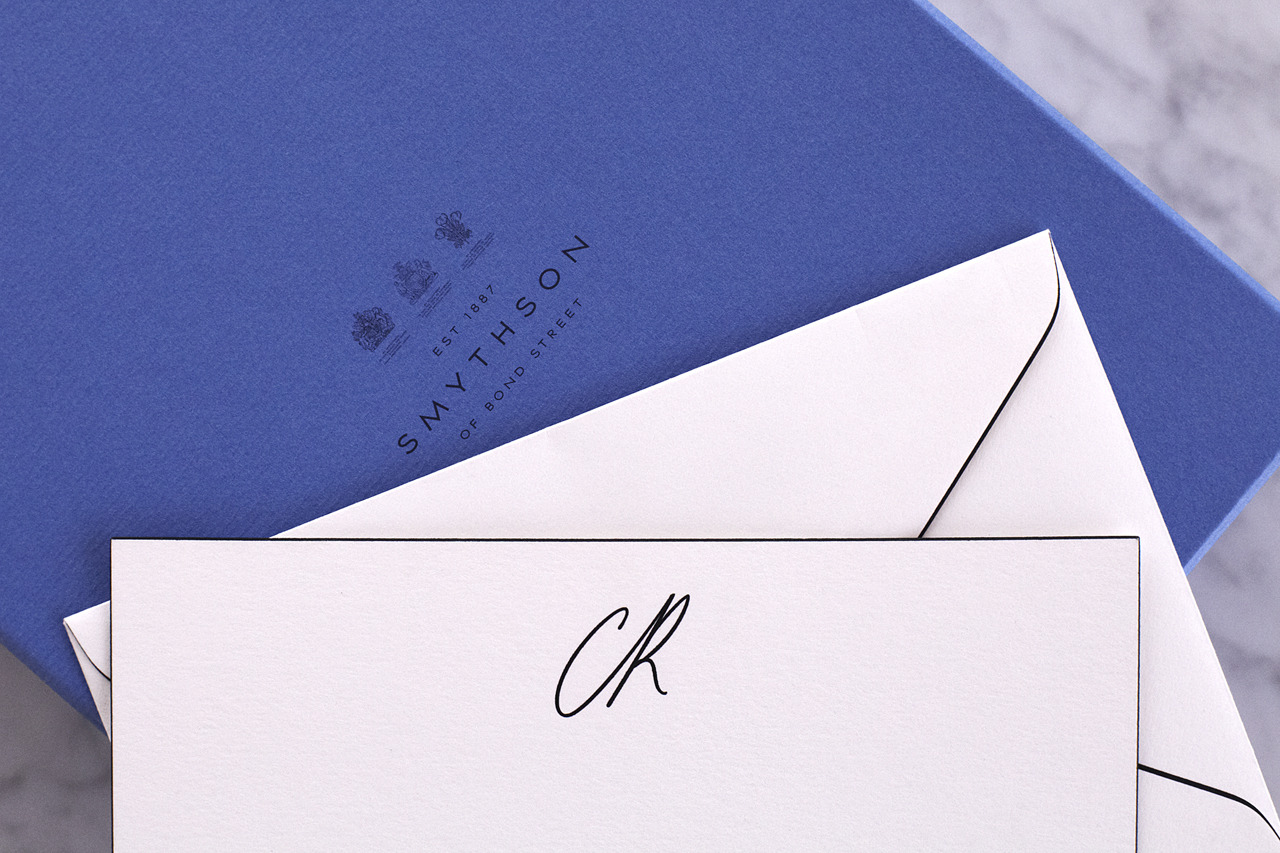 NOTED Because personalized stationery makes a statement. [[MORE]] Our custom Smythson stationery makes letter-writing a pleasure.smythson.com