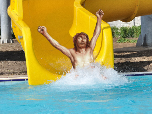 jesus-everywhere:  Jesus On A Water Slide