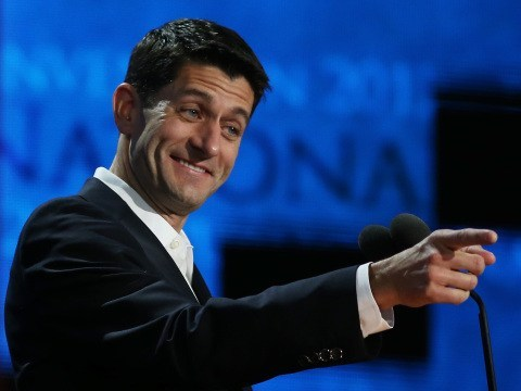 "thedailywhat:  Fox News Call Out Paul Ryan of the Day: Paul Ryan's Wednesday night speech was a much-needed shot of adrenaline for an otherwise sleepy GOP convention, despite the fact that his remarks were chock-full of ""brazen lies."" But for Fox News to acknowledge Ryan's inaccuracies — wow. Sally Kohn's piece, ""Paul Ryan's speech in 3 words,"" calls the candidate's remarks ""dazzling,"" but also ""deceiving,"" and ""distracting"": To anyone paying the slightest bit of attention to facts, Ryan's speech was an apparent attempt to set the world record for the greatest number of blatant lies and misrepresentations slipped into a single political speech. Read the whole thing here."