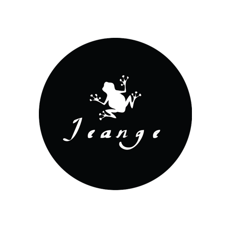 "JEANGE FINAL ARTWORK There is always a story behind a brief design, and thanks to our amazing graphic designer friend who gave us a massive help! Take a look at softcapsules website for an idea of his skills!  Current trend in the EDM world (record labels, artist logos, venues and parties) showcases the use of black and white, with an icon or/ and meaningful font. It's very minimalistic. What's more interesting is the reference to animals, thing you can clearly notice from Katerholzig (Berlin), Life and Death, La Dame Noire (Marseille) and my favorite follower on Soundcloud, Le Coup du Lapin to quote a few.   Not a surprise that we came up with a glittering white frog to aliment this trend. Furthermore, there is a little story about the frog: It's myself being nicknamed from time to time such way by my husband… Or more accurately ""la grenouille"" in French as my legs posture gets inventively similar to the ones of the frogs sometimes! Nice glimpse at our country too.   Oh! And what a frog could do without water lilies? So that's the black round shape is all about! A water lily ie Jean! And of course, the round shape echoes a vynil, it makes sense! Could you see any better matching?  Xx"