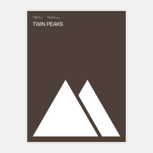 Twin Peaks Print by Albert Exergian