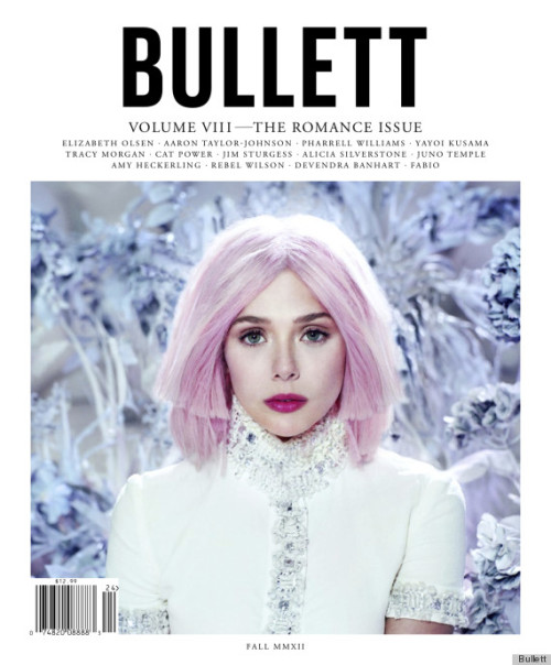 huffpoststyle:  Elizabeth Olsen Hair: The Actress Goes Pink For Bullett Magazine (Source: The Huffington Post)