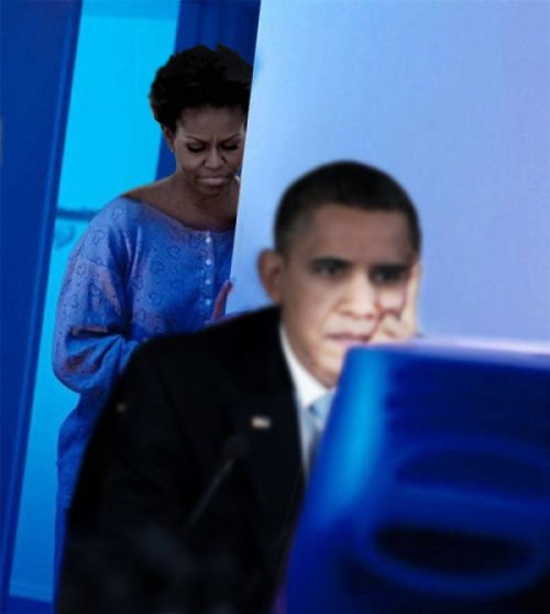 Michelle Obama: Redditor's Wife Barack's connecting with the upvoters. (via)