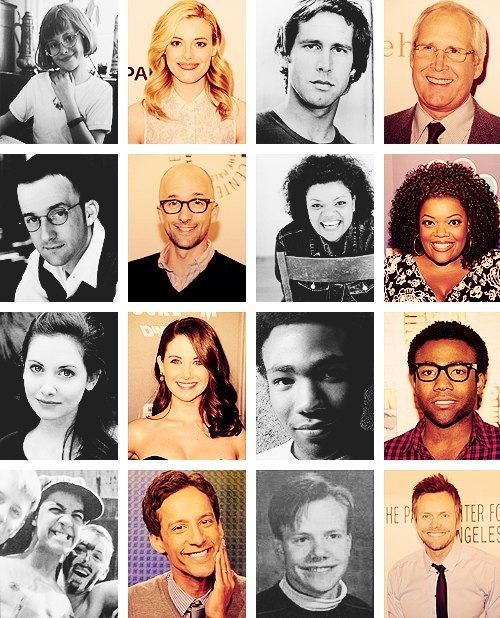 community-overdose:  The cast: then and now.Click for the best Community tumblr ever.