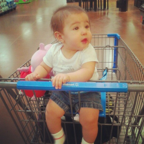 The other day at the store :) my big girl! <3 (Taken with Instagram)