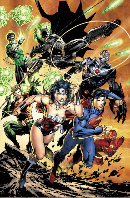 araphiel:  Justice League No.12 Pg 01  Art by Jim Lee, Scott Williams and Alex Sinclair (sinccolor)  Great splash.