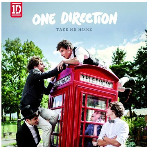 "One Direction's new album cover for ""Take Me Home""!"