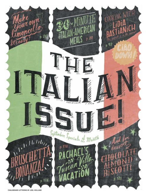 Find out what else was in the issue here: September 2012 Italian Issue: Table of Contents!  Check out our #RRItaly hashtag for more Italian recipes, photos and finds!
