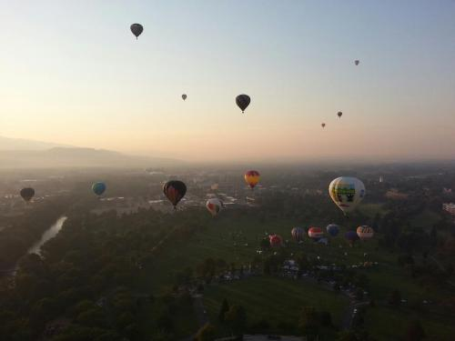 We just landed from our very first Hot Air Balloon ride Spirits of Boise Balloon Classic. Stay tuned for the blog post on our Idaho Guide