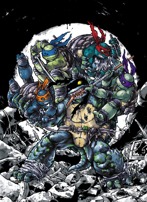 mooncalfe:  my variant cover for IDW's TMNT #16. out in November!    Holycrapwow.