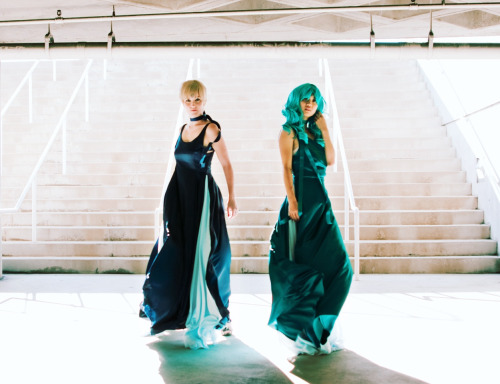 sigmarue:  FIIIIGHTING EEEVIL BY COSPLAAAAY. Princesses Neptune (@denisekuan) and Uranus (myself). Photo by the awesome John Conley.