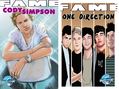 One Direction vs. Cody Simpson… which comic cover do you like best?