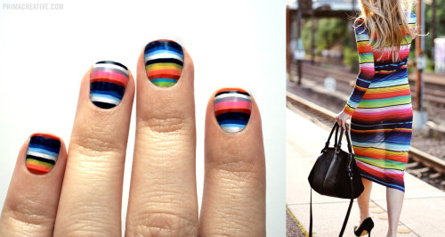 Mexican Blanket Manicure Inspired by House of Holland Mexican Blanket Dress