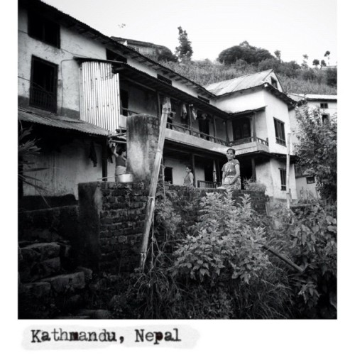 My Home. In the way to Nagarkot mountain, Nepal. #sramyan #documentit #kathmandu #nepal #woman #streetphoto_bw #streetphotography #iphone4s #iphoneography #mobilephotography  (Taken with Instagram at Paradise İnn)