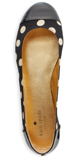 "Look for Less: Kate Spade's Polka Dot Flats Kate Spade's ""pattern of the month"" is polka dots, and the Hailey Flats they just released (pictured above) are absolutely gorgeous. However, they are also $228. For a look for less, try these flats: Aerosoles Teashop Flats, $25 Terza Corsia, $30 Rocket Dog Flats, $35 Mixx Shuz Penny Flats, $30"