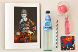Chow wrote about Blue Bottle's new Cindy Sherman-inspired ice cream float! Excerpt:  For the museum's current retrospective of work by American photographer Cindy Sherman, Freeman and Rosenberg developed a giddy pink ice cream float, inspired by one of Sherman's garish, leering self-portraits in clown drag. The photo—Untitled #415, from 2004—shows Sherman in a flowery coat and a silver-hologram bowler, holding a bottle of pink pop.