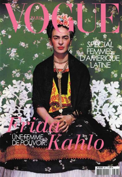 Frida Kahlo on the cover of Vogue Paris ca. 1938