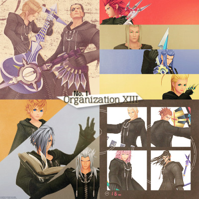 (1/30) little Kingdom Hearts things I love:-→ Organization XIII