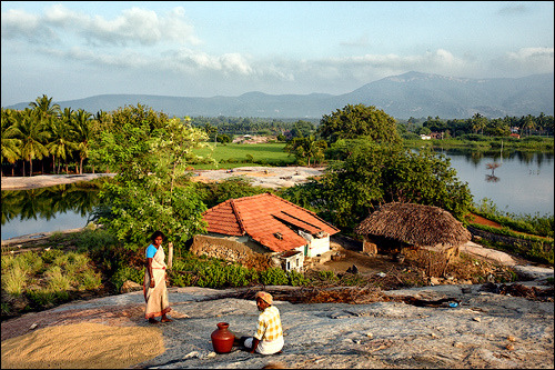 Living at the foot of the hill • Mangulam