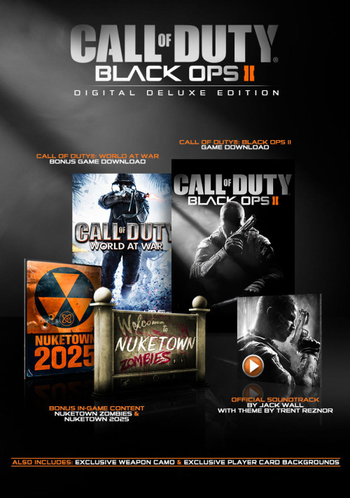 The official promo for the Deluxe Digital edition of Call of Duty: Black Ops 2, exclusive to PC players.   - Tyson