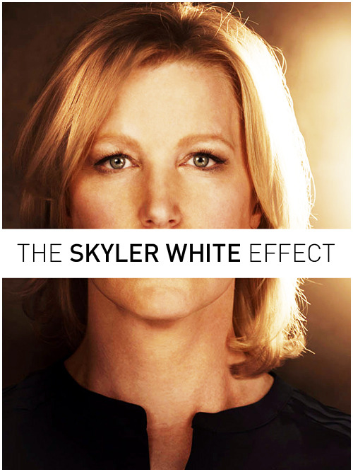 The Skyler White EffectThe cognitive dissonance that happens when a female character is presented by the narrative as absolutely correct in their judgment of a male character, and yet the viewers assume she's the bitch.  Cómo juegan con nuestra moral, los cabrones.