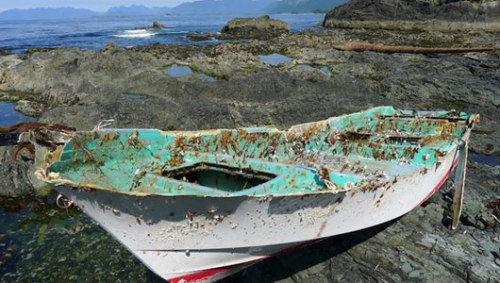 mothernaturenetwork:  Tsunami boat washes up in CanadaThe NOAA expects that more debris will come ashore over several years, but that much of it will be indistinguishable from the usual flotsam and jetsam.