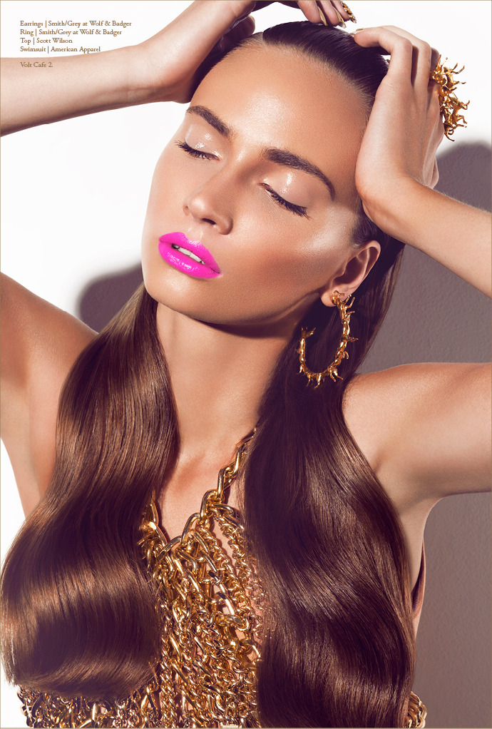 Diggin' the Gold digger shoot in Volt Magazine featuring SMITH/GREY's earrings and knuckleduster.