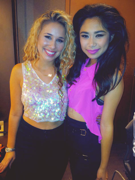 dailyreinhart:  Haley Reinhart and Jessica Sanchez.