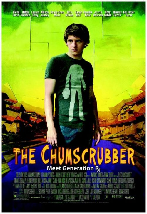 "The Chumscrubber (2005)  A darkly satiric story about life crumbling in the midst of a seemingly idyllic suburbia  very funny (dark), and sad. the main character tries to deal with the suicide of his best friend, and a lot of things get out of hand in this ""perfect"" suburbia. a very enjoyable watch. the only thing i disliked was the choice of music, didn't seem fitting, but i think it was meant to not-sound-appropriate, a tad cheerful in dramatic and intense scenes.  nonetheless, a must watch. on imdb"