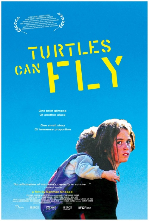 Turtles can fly (2004)  Near the Iraqi-Turkish border on the eve of an American invasion, refugee children like 13-year-old Kak (Ebrahim), gauge and await their fate.  a heartbreaking watch.  on imdb