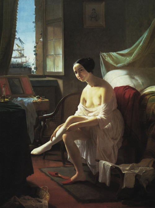 monsieurleprince:  Eliseo Sala (1813 - 1879) - The morning toilet, 1846