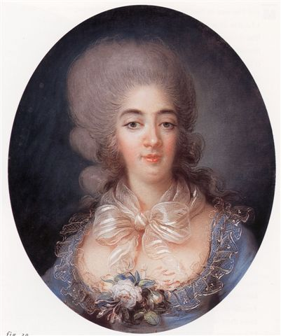 Marie Antoinette to Maria Theresa, 16 August 1779 Madame [la comtesse de Provence]'s pregnancy is mere gazettes' gossip. She is always in the same state. There was a moment when we thought it was no longer so—even Monsieur was boasting greatly—but the passage of time proved that it was all empty words, and I think he will always stay as he is… image: Comtesse de Provence by Rose  Filleul, circa 1780