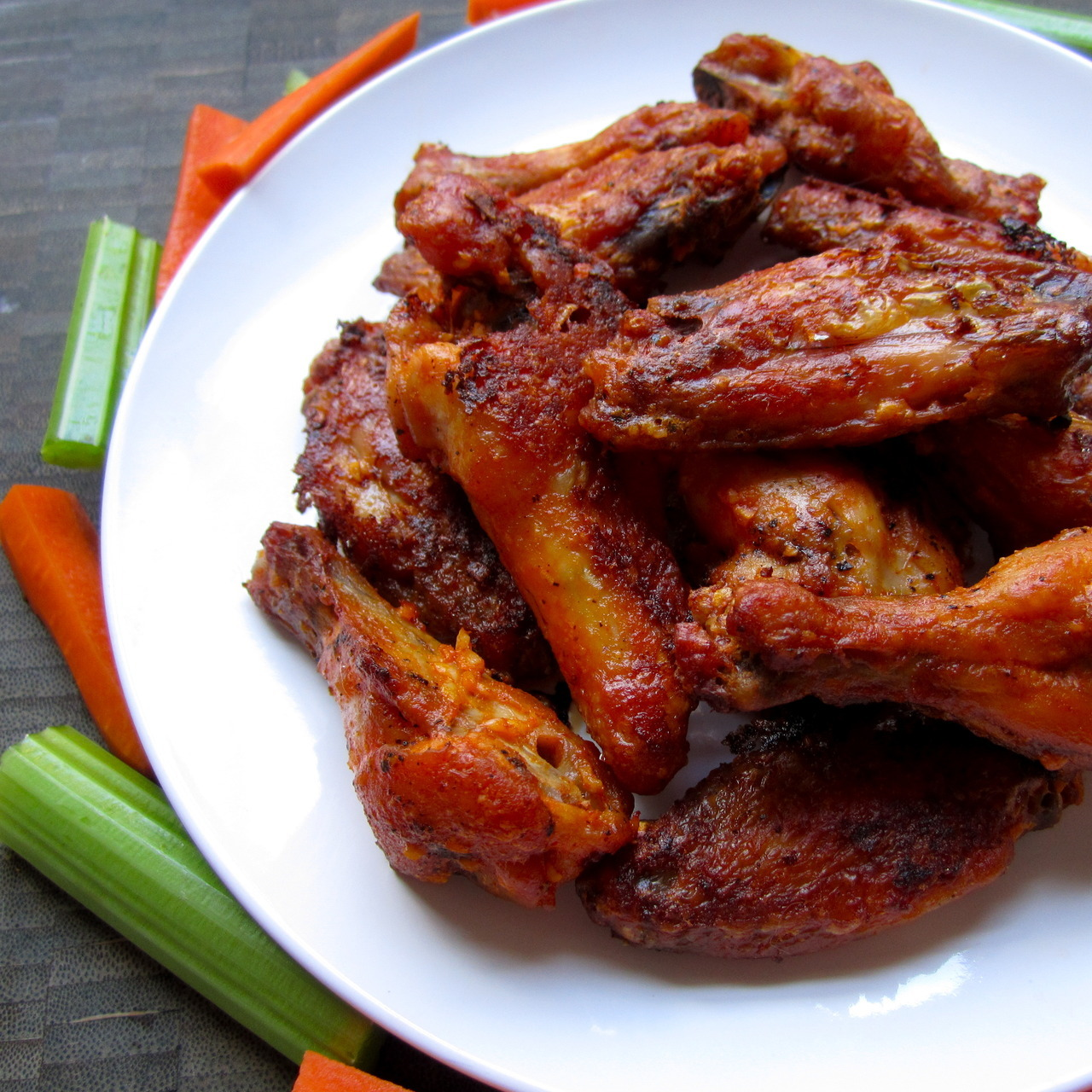 hot wings hell yeah! no frying or steaming needed, just pop them in the oven. they are super delicious and fool proof. and it's nearly football season if you're in to that sort of thing, so this would be a good time to make some, you football person you. full recipe here!