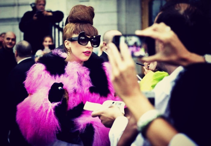 Lady Gaga outside her Hotel in Stockholm, Sweden.