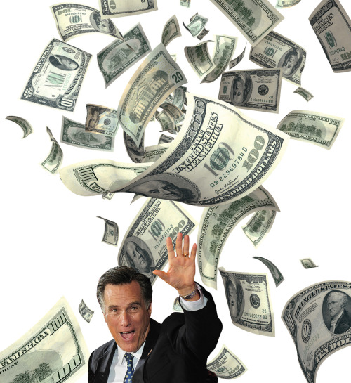 Mitt Romney illustration by Arthur Hochstein, from the Bloomberg Insider daily convention magazine