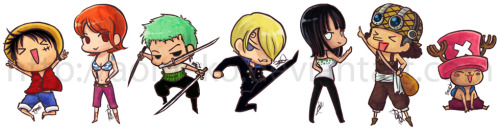 beechichi:  One Piece stickers ;>
