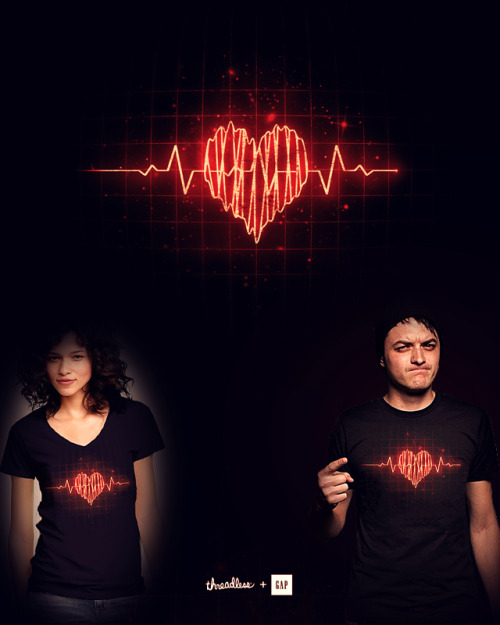 Heartbeat For Threadless + Gap Clever Challenge. http://www.threadless.com/submission/451253/Heartbeat
